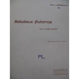 LADMIRAULT Paul Mélodieux Automne Piano Chant 1913