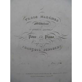 SCHUBERT Franz Trois Marches Militaires Piano 4 mains ca1830