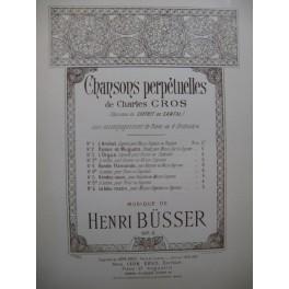 BÜSSER Henri Rendez-vous Dédicace Chant Piano 1898