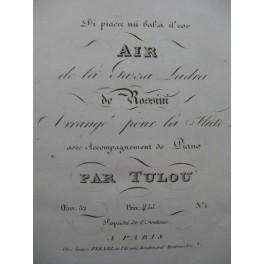 TULOU Jean-Louis Air de la Gazza Ladra Rossini Flûte Piano ca1820