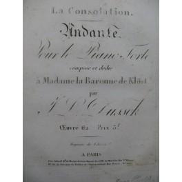 DUSSEK J. L. La Consolation op 62 Piano ca1807