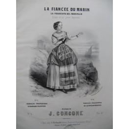 CONCONE Joseph La Fiancée du Marin Chant Piano ca1852