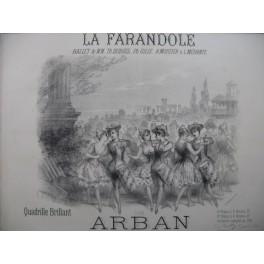 ARBAN La Farandole Quadrille Piano ca1880