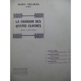 DELMAS Marc Cloches de Noël Chant Piano
