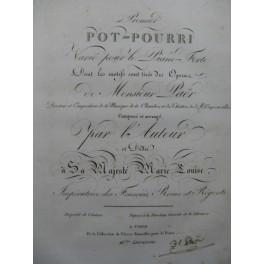 PAËR Ferdinand Premier Pot-Pourri Dédicace Piano ca1810