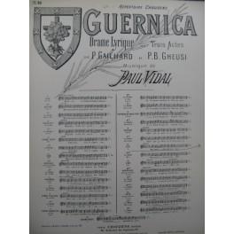 VIDAL Paul Guernica No 10 Chant Piano 1895