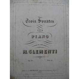 CLEMENTI Muzio Trois Sonates op 25 Piano ca1853