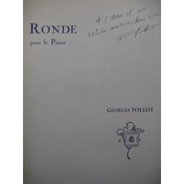FOLLOT Georges Ronde Dédicace Piano