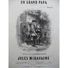 MIDAVAINE Jules Un Grand-Papa Chant Piano ca1852
