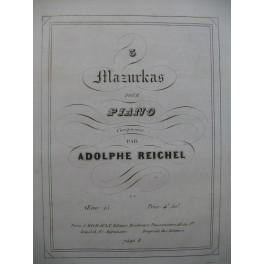 REICHEL Adolphe 3 Mazurkas Piano ca1849