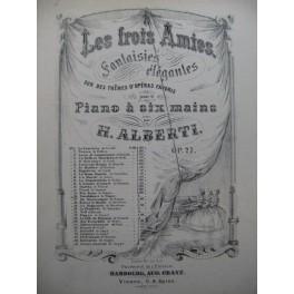ALBERTI H. Fantaisie Tannhäuser Wagner Piano 6 mains ca1870
