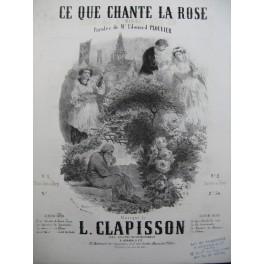CLAPISSON Louis Ce que Chante la Rose Nanteuil Chant Piano ca1860
