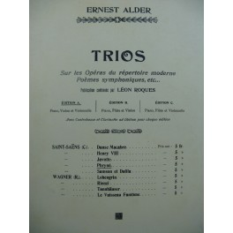 SAINT-SAËNS Camille Phryné Trio Piano Violon Violoncelle Flûte 1906