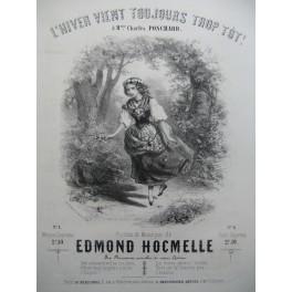 HOCMELLE Edmond L'Hiver vient toujours trop tôt Chant Piano ca1850