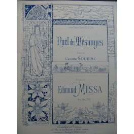 MISSA Edmond Noël des Mésanges Chant Piano ca1896