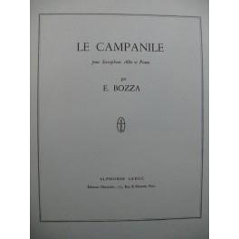 BOZZA Eugène Le Campanile Saxophone alto Piano 1964