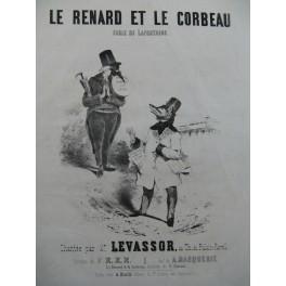 MARQUERIE A. Le Renard et le Corbeau Chant Piano ca1840