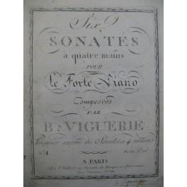 VIGUERIE Bernard Sonate No 1 Piano 4 mains XVIIIe