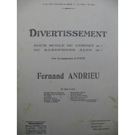 ANDRIEU Fernand Divertissement Cornet à Pistons ou Bugle Piano 1923