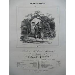 PANSERON AUguste Pauvre Enfant Chant Piano ca1830