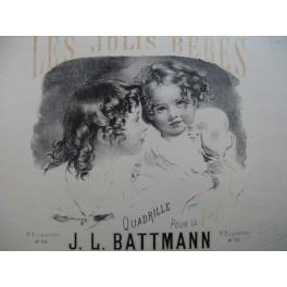 BATTMNN J. L. Les Jolis Bébés Piano 1868