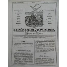DOCHE J. Le Naufrage Piano Chant 1835
