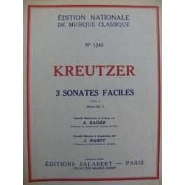 KREUTZER Rodolphe Sonate facile Lettre A No 1 Violon Piano