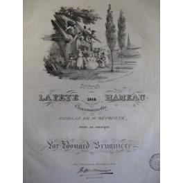BRUGIERE Edouard La fête au hameau chant piano ca1830