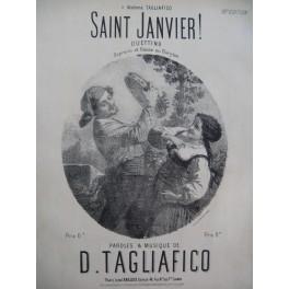 TAGLIAFICO D. Saint Janvier ! Chant Piano XIXe