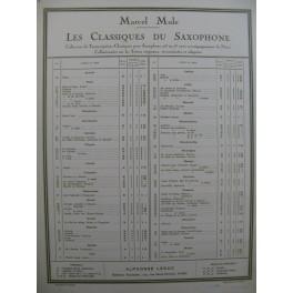 GLUCK C. W. Orphée Scène des Champs-Elysées Saxophone Piano 1937