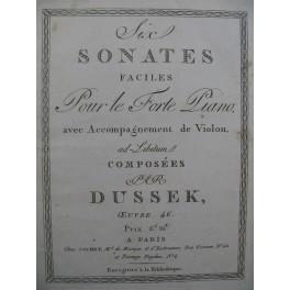 DUSSEK J. L. Deux sonates op 46 Piano ca1800