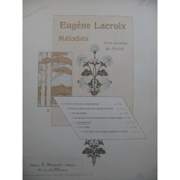 LACROIX Eugène Mandoline Chant Piano 1898
