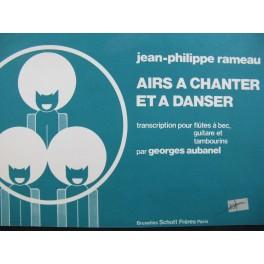 RAMEAU Jean-Philippe Airs à chanter et à danser Flûtes à bec Guitare 1976