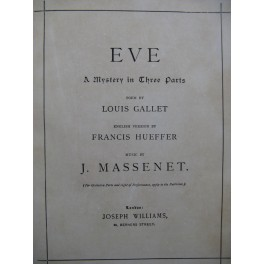 MASSENET Jules Eve Mystery Chant Piano