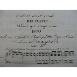ZINGARELLI N. A. Odiosa mi si rende Chant Piano ca1820