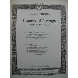 TURINA Joaquin Femmes d'Espagne 2e Série Piano 1952