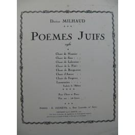MILHAUD Darius Poèmes Juifs Chant Piano 1920