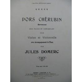 DOMERC Jules Dors Chérubin Berceuse Violon Violoncelle Piano ca1905