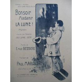 MARINIER Paul Bonsoir Madame La Lune Chant Piano