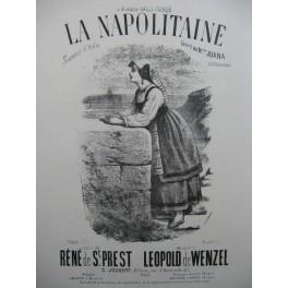 DE WENZEL Leopold La Napolitaine Chant Piano XIXe