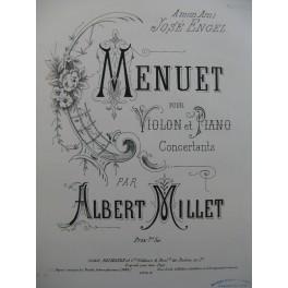 MILLET Albert Menuet Violon Piano 1885
