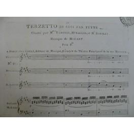 MOZART W. A. Cosi Fan Tutte Terzetto Chant Piano ca1820