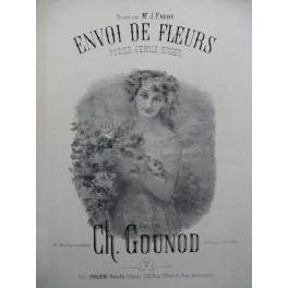 GOUNOD Charles Envoi de Fleurs Chant Piano XIXe siècle