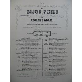 ADAM Adolphe Le Bijou Perdu No 10 Ronde Chant Piano XIXe