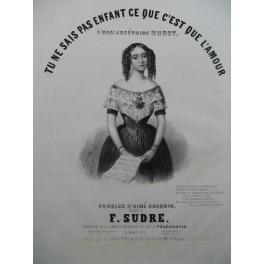 SUDRE François Tu ne sais pas Enfant Chant Piano ca1840