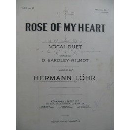 LÖHR Hermann Rose of my Heart Chant Piano 1912