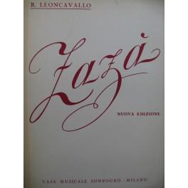 LEONCAVALLO R. Zaza Opéra Chant Piano 1947