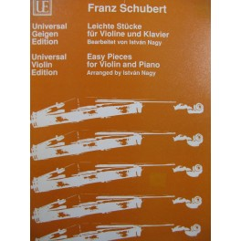 SCHUBERT Franz Easy Pieces Violon Piano 1991