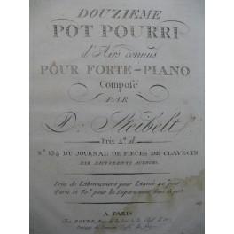 STEIBELT Daniel Douzième Pot Pourri Piano ca1800