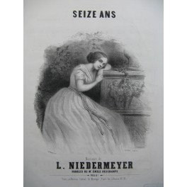 NIEDERMEYER Louise Seize Ans Chant Piano ca1840